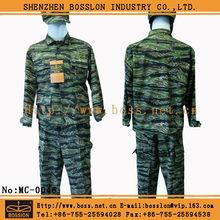 High quality American army military uniform BDU camouflage tiger stripe uniform