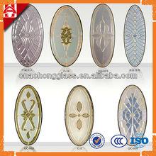china proveedor de oro de triple cristal manchado panel de la puerta de vidrio de diseño