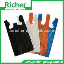 China export factory HDPE/LDPE t-shirt supermarket shopping bag