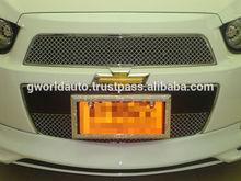 CHEVROLET AVEO/SONIC HB&NB Chrome Front Grille Jaguar Style (2pcs)