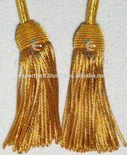 decoration metallic golden bullion tassel fringe