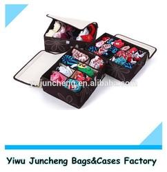 Floral Pattern Polyester Underwear Storage Organizer Box 3pcs