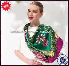 2014 Spring New Design Fashion Square Silk Scarf Made in China Zhejiang