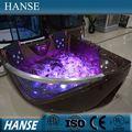 HS-B219 popular lujo bañera de esquina de acrílico con masaje pareja sexy para interior