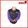 Denim sleeves varsity jacket european style jacket for men