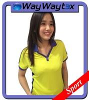 New Product Poly Spandex Fabric Fashion Sports Woman Polo T Shirt