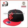Red brim and black snapback hat 3D embroidery logo design custom