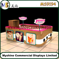 Customized food booth for sale Coffee Kiosk design in mall