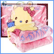 4kg 100% polyester babies knitted raschel blanket