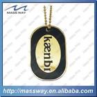 customized brass metal gold custom ID human men dog tag