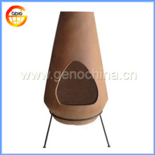 2014 Outdoor Wood Fired Clay Chiminea for Garden Decoration