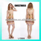 2014 factory wholesale summer fashion lady clothes girls casual dress
