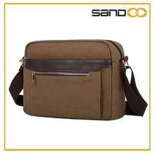 Korea style crossbody blank shoulder canvas vertical laptop messenger bag
