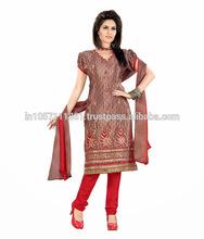 Indian Crepe Jacquard Salwar Kameez | online shopping for wholesale clothing