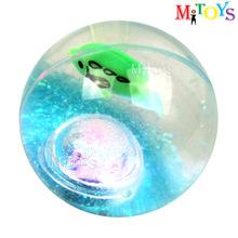 cixi 55 65 75 85 100mm dia Hollow TPU Super Hi Bounce Water Glitter Ball