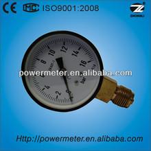 63mm black steel case bottom compound pressure gauge with EN837-1