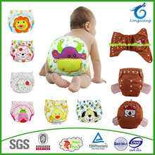 Combined wings print BEAR design baby washable diaper/hot sale cloth nappy HAPPY FLUTE