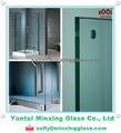 Nouveau produit pour le verre de construction 2014 isogarantie& cccprix en chine la fabrication d'eau en verre temperd mur, porte en verre