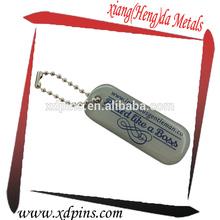 2015 promotional metal printing epoxy dog tag