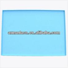 Food grade silicone flat mat/silicone pet feeding mat