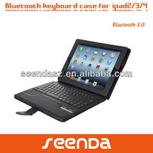 Seenda Ultra-thin Leather cover folding keyboard case for apple ipad