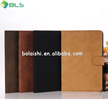 Vintage style perfect protect for ipad mini 2 stand leather case