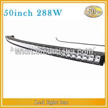 off road 4x4 ATV SUV curved led light bar 288w