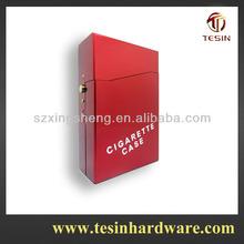 2014 Hot sale automatic aluminium fashion men use cigarette case