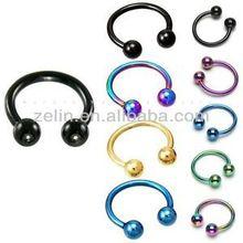 fashion basic gauges Titanium anodized captive bead ring jewelry CBR