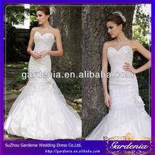 di ogni stilista 2014 sexy fidanzata sirena treno tulle taffettà corte fiori cristalli di abito da sposa