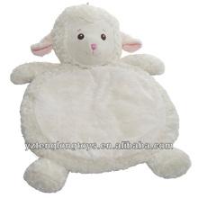 Wholesale plush animal mat, plush baby mat, lamb baby mat