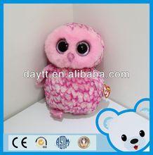 Cute plush stuffed toy love birds stuffed plush bird toys pink plush owl