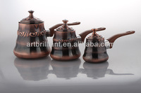 3pcs set copper plated stainless steel coffee warmer from China Alibaba