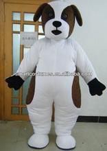 white dog mascot costume adult carnival dog costume