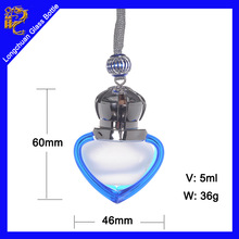 Most popular items hanging car perfume bottle,glass parfum bottles,car air freshener