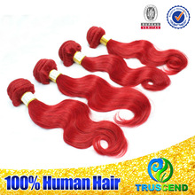 Fresh hair soft&full endings sexy wholesale factory price can be dyed&ironed indian remy red hair extensions wholesale
