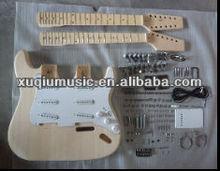 Double Neck Electric Guitar Kits,Hot Sale Unfinished Electric Guitar Kits
