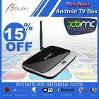 Android 4.4 External Antenna Google TV Box USB 2.0,Quad Core GoogleTV Box 2GB RAM 8GB ROM with Bluetooth 4.0