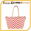 2014 best selling chevron canvas lady tote bag