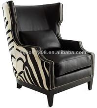 Luxury living room single sofa, armchair, customized furniture, leather sofa