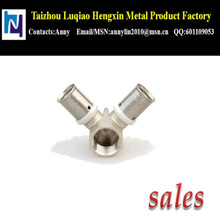 "16X1/2""X16 high quality chrome plated brass pipe fitting"