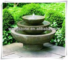 Artistic three tier bowl stone water fountain for garden