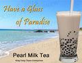 Instant bolha chá, leite pérola pó