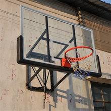 Practical height adjustable wall mounted basketball hoop