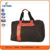 Attractive foldable duffle travel bag with reflective strap