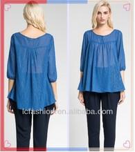 2013 fashion blouse plus size ladies women new design blouse baju made in china