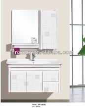 fashion design bathroom pvc cabinet/wash basin with cabinet