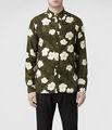 homens de estilo hawaii floral impressão camisa