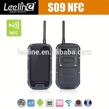 S09 NFC PTT travel best smartphones 2012 at&t,waterproof Smartphone android IP68 Waterproof Dustproof Shockproof