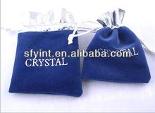 Cheap velvet drawstring pouch bag